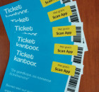 Flyers met de voordelen van een ticketservice