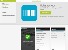 De scan app van ticketkantoor staat nu in de Google Play Store